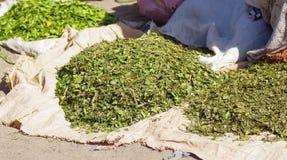 Lokale korrels voor verkoop in Lalibela royalty-vrije stock afbeeldingen