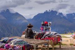 Lokale markt die Peruviaanse producten verkopen royalty-vrije stock foto's