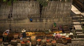 Lokale markt in Myanmar Stock Foto