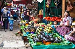 Lokale markt in San Cristobal, Mexico royalty-vrije stock afbeeldingen