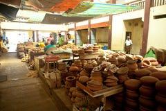 Lokale markt in Sri Lanka - April 2, 2014 Stock Afbeeldingen