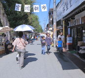 Lokale markt Takayama Japan Stock Foto's