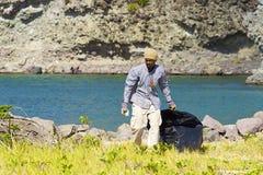Lokale mens in St Caraïbisch Kitts, Royalty-vrije Stock Foto's