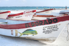 Lokale mexikanische Fischerboote Lizenzfreies Stockfoto