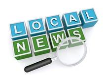 Lokale Nachrichten vektor abbildung