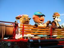 Lokale Parademascottes, de Markt van de Provincie van Los Angeles, Fairplex, Pomona, Californië stock foto