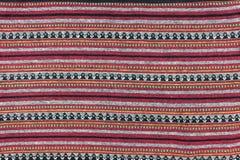 Lokale patroonontwerp gemaakte stof en zijde het Noord- van Thailand Royalty-vrije Stock Afbeelding
