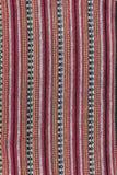 Lokale patroonontwerp gemaakte stof en zijde het Noord- van Thailand Royalty-vrije Stock Afbeeldingen