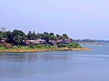 lokale regeling bij Kaptai-Meer, Rangamati, Bangladesh royalty-vrije stock afbeeldingen