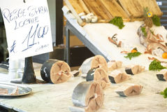 Lokale Schwertfische, für Verkauf in Palermo Lizenzfreie Stockfotos