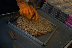 Lokale snoepjes van noten Royalty-vrije Stock Foto