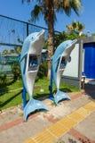 Lokale telefoon Telefoons in de vorm van dolfijnen royalty-vrije stock fotografie