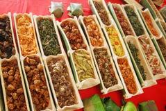 Lokale Teller Sabahs aus Gemüse Lizenzfreie Stockfotografie