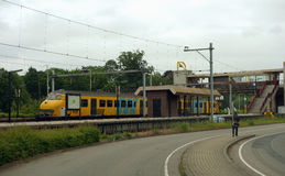 Lokale trein in Nederland Royalty-vrije Stock Foto's