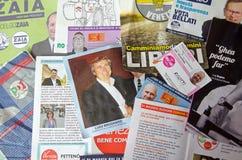 Lokale verkiezingspamfletten, Venetië, Italië Stock Afbeelding