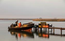 Lokale visser Royalty-vrije Stock Foto's