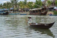 Lokale vissersvrouw Stock Afbeeldingen
