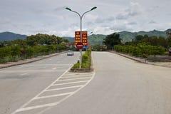 Lokale weg in Dien Bien Phu stock foto