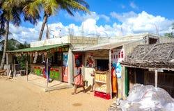 Lokale winkelafzet in Mozambique, Afrika stock foto