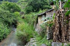 Lokale woonplaats in land van Fujian, Zuiden van China Stock Afbeelding