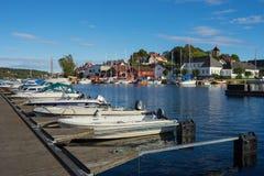 Lokale zeehaven in Noorwegen Royalty-vrije Stock Afbeeldingen