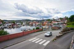 Lokale zeehaven in Noorwegen Stock Afbeeldingen