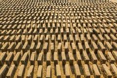 Lokale Ziegelstein-Fabrik vor Ort Eine Übersicht fand 74 Brennöfen im Bhaktapur-Bezirk von KTM lizenzfreie stockbilder