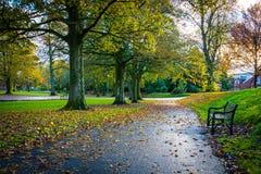 Lokalen parkerar i Kilmarnock den östliga ayrshiren Skottland UK arkivfoto