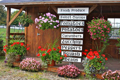 Lokaler Frischware-Schaufenster-Standplatz Lizenzfreie Stockbilder