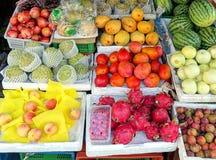 Lokaler Frucht-Stall in Taiwan Lizenzfreies Stockfoto