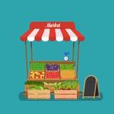 Lokaler Gemüsestall Stockfoto