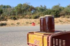 Lokaler Honig für Verkauf in Kappe Bon, Tunesien stockfoto