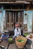 Lokaler Lebensmittelmarkt in Tiruvannamalai Lizenzfreie Stockfotografie
