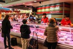 Lokaler Markt in Barcelona, Spanien Stockfotografie
