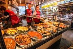 Lokaler Markt in Barcelona Spanien Lizenzfreies Stockbild