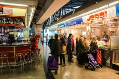 Lokaler Markt in Barcelona, Spanien Lizenzfreies Stockfoto
