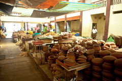 Lokaler Markt in Sri Lanka - 2. April 2014 Stockbilder