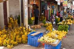 Lokaler Markt in Sri Lanka - 2. April 2014 Stockfotografie