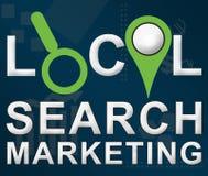 Lokaler Suche-Markering-Geschäfts-Thema-Hintergrund Stockfotografie