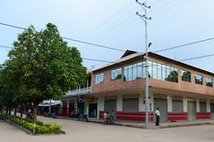 Lokalerna på gatorna av staden Fotografering för Bildbyråer