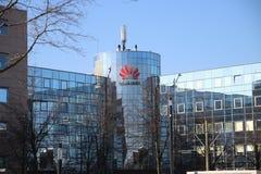 Lokales Büro von Huawei, chinesischer Hersteller des Telekommunikationsgeräts in Voorburg, die Niederlande stockfoto