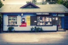 Lokales Haus auf der Insel von La Digue Stockfotografie