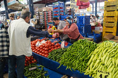 Lokales Käuferkaufgemüse Lizenzfreies Stockbild