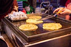 Lokales Lebensmittel des Inders in thailändischem Stockfoto