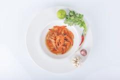 Lokales Lebensmittel Kung Soms des Dorfbewohners Thailand Lizenzfreie Stockfotos