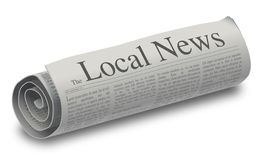 Lokales Nachrichten-Papier stockfoto