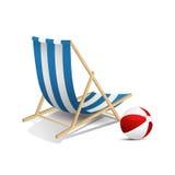 lokaliserad semesterortsjösida för strand stol Fotografering för Bildbyråer
