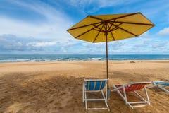 lokaliserad semesterortsjösida för strand stol Royaltyfria Foton