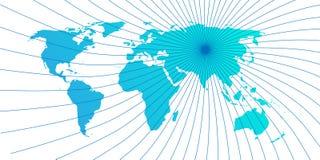 Lokaliserad teckenvärldskarta Royaltyfria Bilder