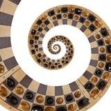 Lokalisiert auf weißen schwarzen Zahlen des weißen abstrakten hölzernen Schachschreibtisches mischen Sie gewundenen Effekt Zusamm lizenzfreie abbildung